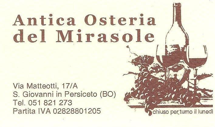 Dettagli Trattoria Antica Osteria del Mirasole