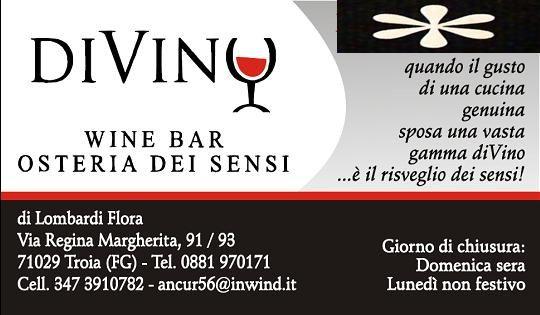 Enoteca / Wine Bar  Osteria dei Sensi TROIA