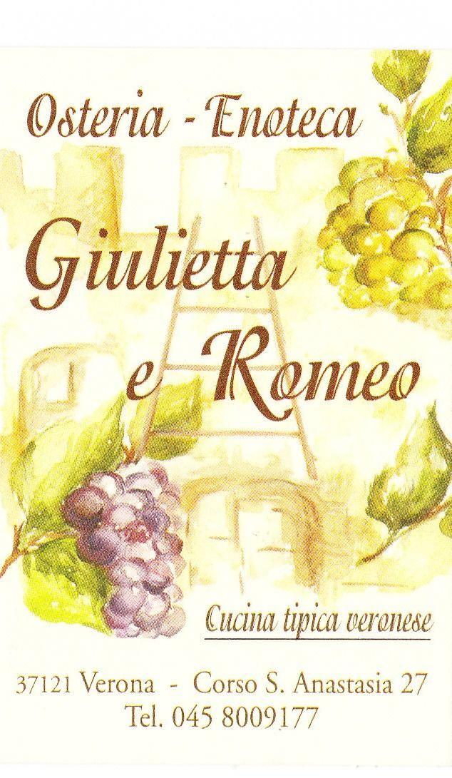 Dettagli Osteria Giulietta e Romeo